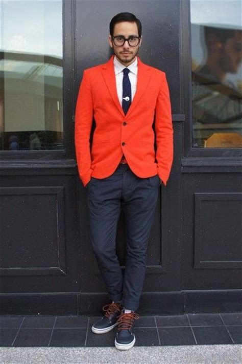 Jacket Jaket Cowok Orange Oranye 2016 casual style orange blazer 2 pieces mens wedding prom dinner suits 2 pieces groom tuxedos