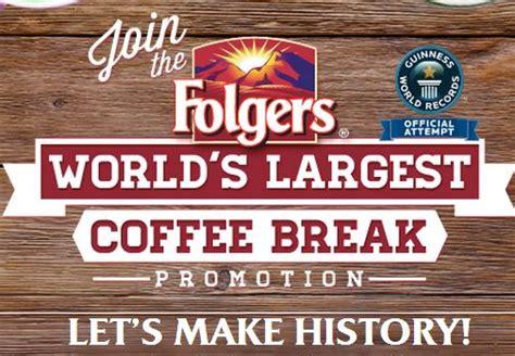 free folgers coffee break sweepstakes win a coffee mug or a 100 visa card - Folgers Sweepstakes
