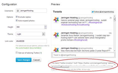 Tutorial Web Hosting Indonesia | tips menambahkan widget twitter di blog informasi dan