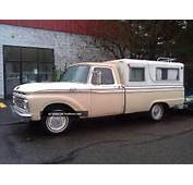 1964 Ford F 100 Truck Pickup With Camper  Survivor Photo
