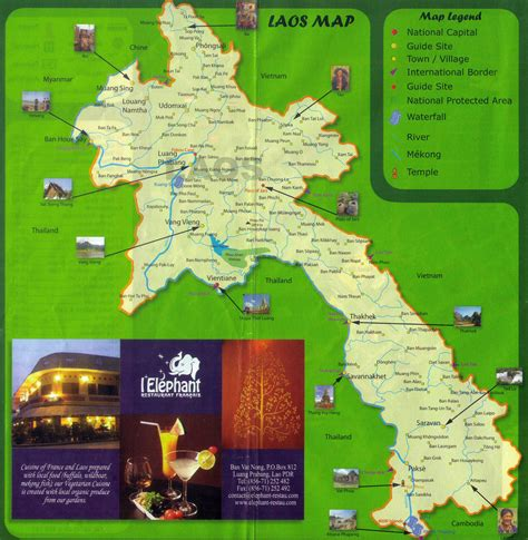 map of laos maps of laos detailed map of laos in tourist