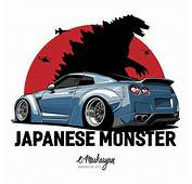 Nissan GTR Vector Print On Behance