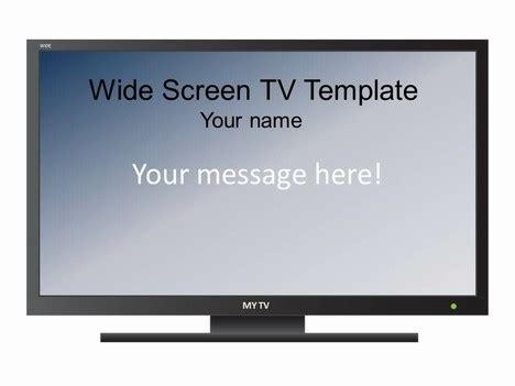 widescreen televison set template