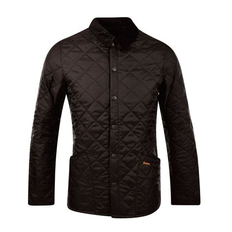 Barbour Black Quilted Jacket by Barbour Heritage Black Liddlesdale Quilted Jacket
