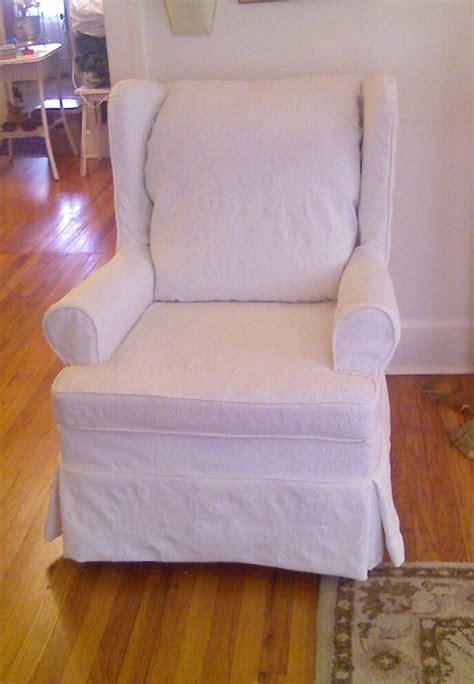 wing loveseat slipcover cozy cottage slipcovers mattelasse wing chair slipcover