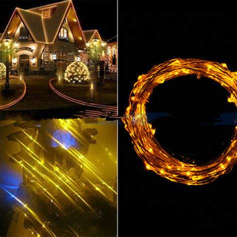 10m 100 Led Copper Wire String Lights Warm White Led Led Warm White String Lights