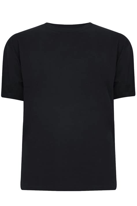 badrhino black basic plain crew neck t shirt large