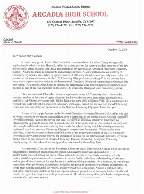 Recommendation Letter Harvard Sle These 2 Recommendation Letters Got Me Into Harvard And The League
