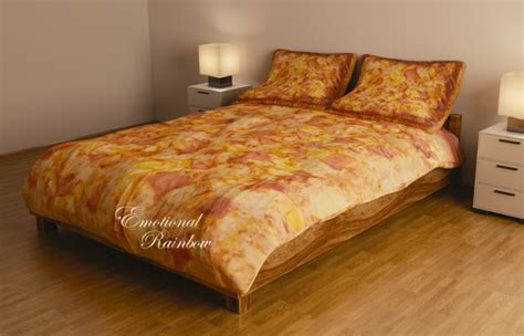 pizza bedding now available with hawaiian toppings
