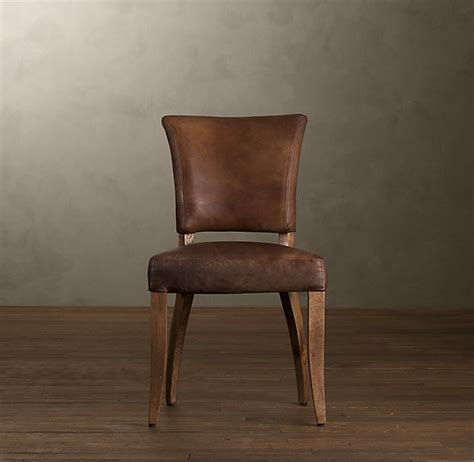 Restoration Hardware Dining Room Chairs Ad 233 Le Leather Dining Chair Leather Arm Side Chairs Restoration Hardware 試してみたいこと