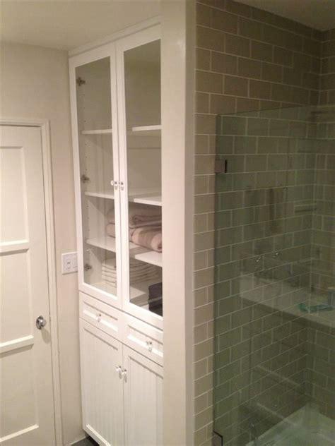 white linen closet for bathroom white bathroom linen closet with her plenty of shelves