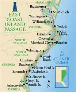 us map beaches east coast east coast inland passage atlantic coastal small ship