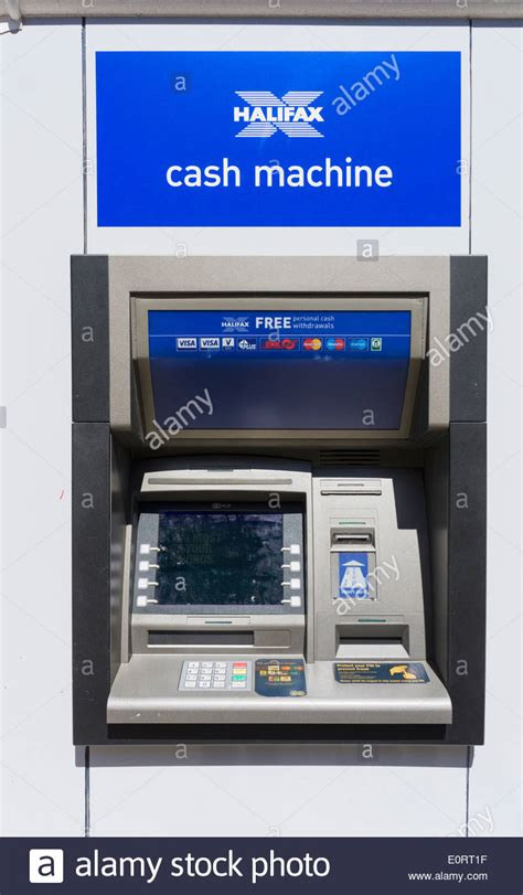 halifax bank locations halifax bank atm cashpoint uk stock photo royalty free