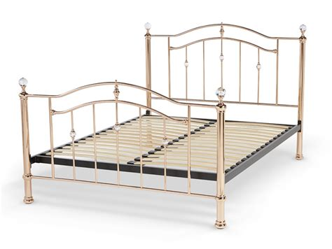 gold metal bed frame serene ashley super king size rose gold metal bed frame