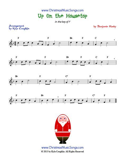 free printable lyrics to up on the housetop up on the housetop free sheet music