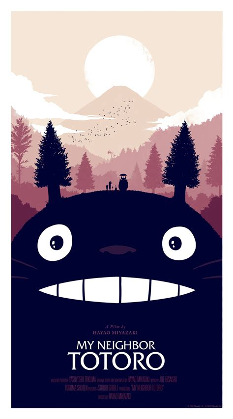 design art poster my neighbor totoro gets great poster design by olly moss