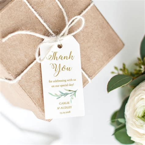 Wedding Favors Thank You Tags by Thank You Tag Wedding Favor Wedding Thank You Tags Gift