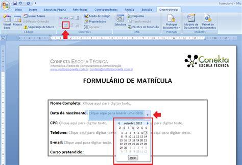 Calendario Word 2007 Criar Formul 225 No Word 2007 Guiatech