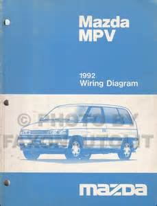 1992 mazda mpv wiring diagram manual original