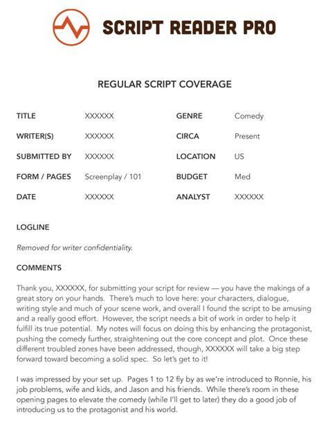 script coverage template what is script coverage a script coverage