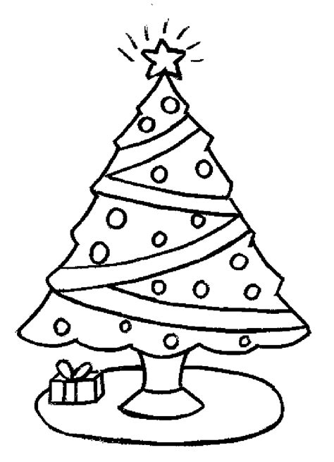 christmas tree color pages coloring home