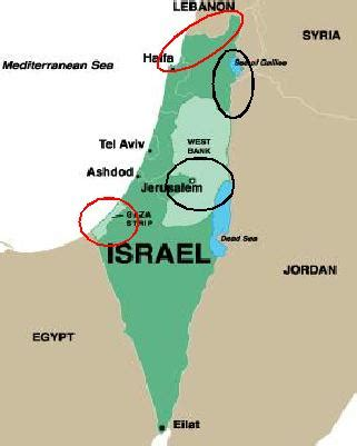 israel map today map of israel today