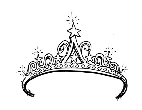 princess tiara coloring pages download page tattoo