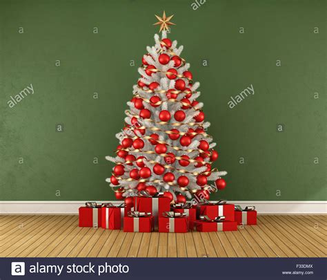 green tree with white decorations green room with white tree with decoration