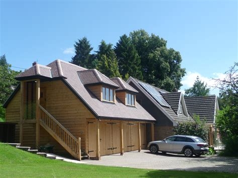Garage With Accommodation by Timber Framed Buildings In Dorset By Adam Slatter