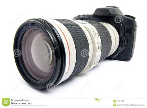 dslr zoom dslr with zoom lens royalty free stock photos