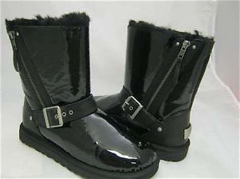 ugg blaise black patent leather boots 1003266 ג eu 36 us
