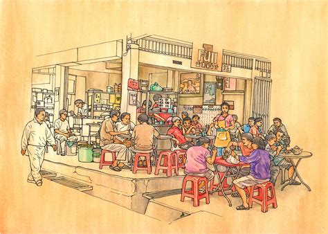 behance kopitiam cafe  traditional coffee shop