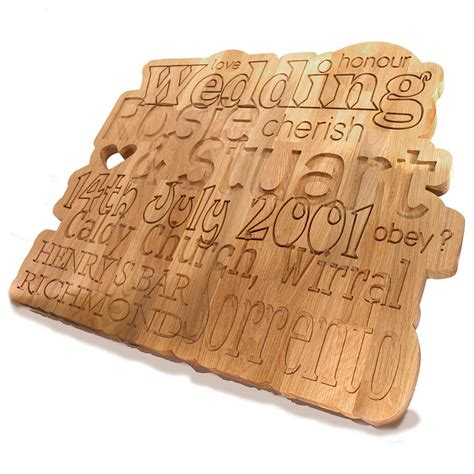 Wedding Anniversary Gift Wood by Personalised Anniversary Wedding Oak Plaque By Cleancut