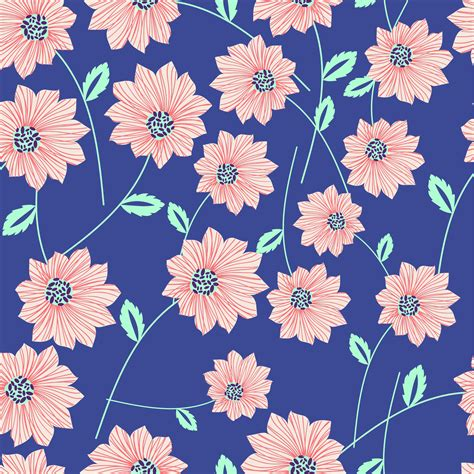 floral pattern in blue clipart seamless blue floral pattern