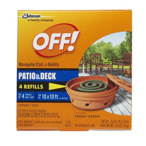 off mosquito l refills off mosquito coil refills 4 pack 21817 the home depot