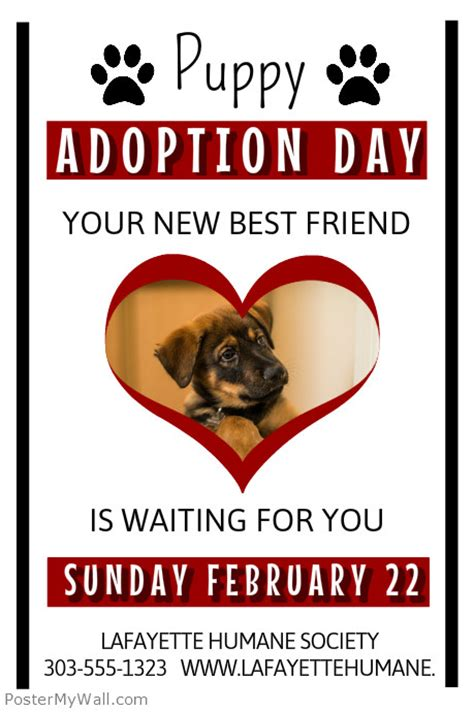 adoption event template postermywall