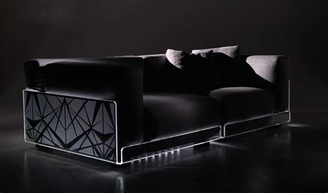 versatile sofa with built in mood led lights asami light