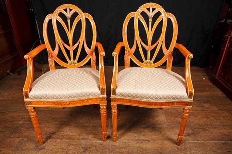 Buy Dining Chairs Uk Pair Hepplewhite Arm Chairs Dining Chair Furniture Regency Antique Dining Chairs