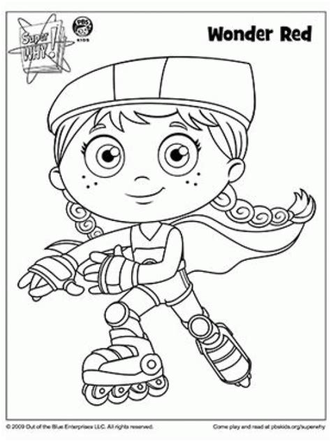 Super Why Coloring Pages Coloring Home Why Coloring Pages
