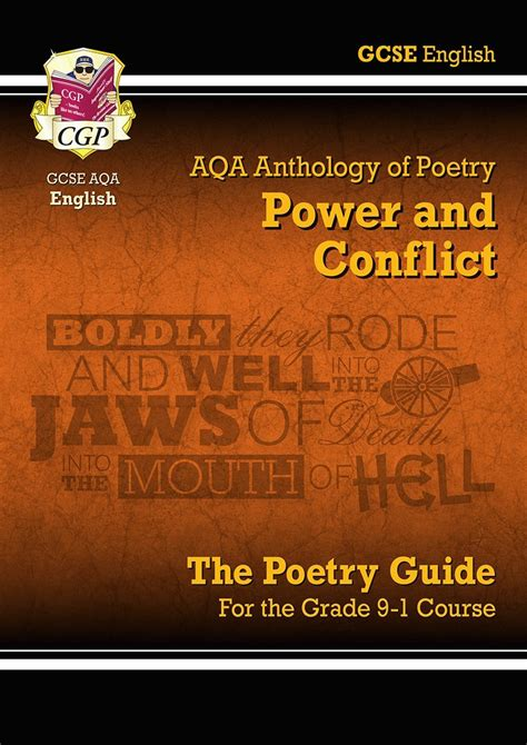 new gcse english literature 1782943617 new gcse english literature aqa poetry guide power conflict anthology for 9 1 9781782943617