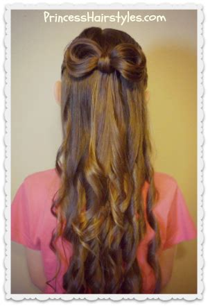 princess hairstyles noodle curls bow made from hair with curls princess hairstyles how