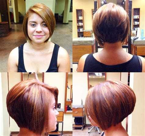 short stacked bod with sides above ear 24 stacked bob haircut ideas designs hairstyles