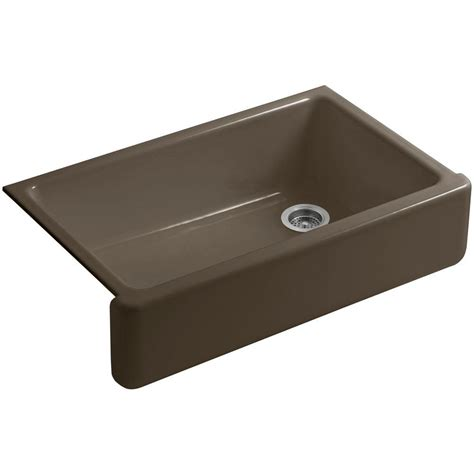 36 In Kitchen Sink Kohler Whitehaven Undermount Farmhouse Apron Front Cast Iron 36 In Single Basin Kitchen Sink In