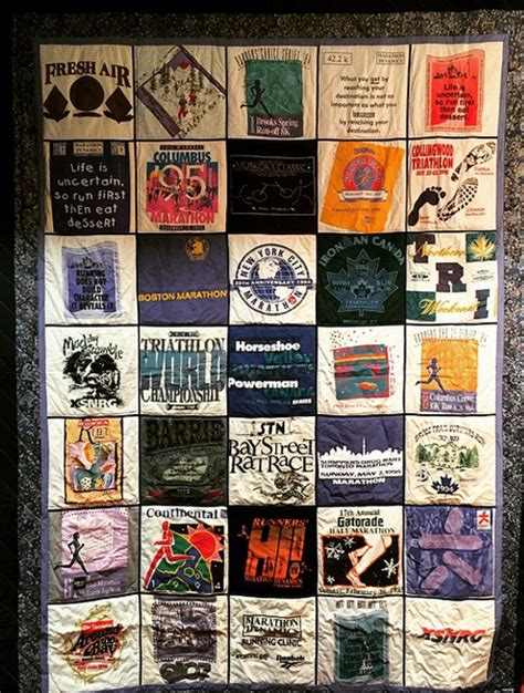 Race Shirt Quilt by What To Do With Your Race Shirts And Bibs
