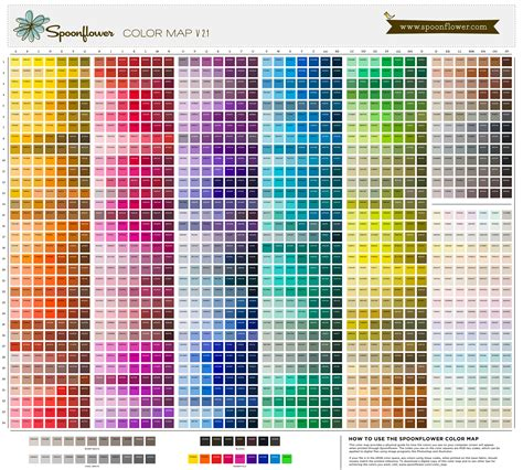 color selection spoonflower