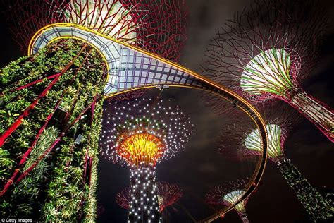 singapore trees of light puts our christmas lights to shame mesmerising forest of