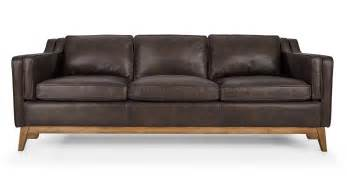 sofas couches worthington oxford brown sofa sofas article modern