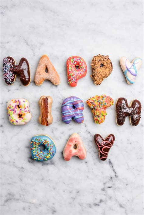 Happy Birthday Doughnuts by Happy Birthday Donuts Food