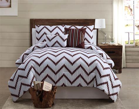 brown cotton comforter victoria classics zigfield 5 piece 100 cotton comforter