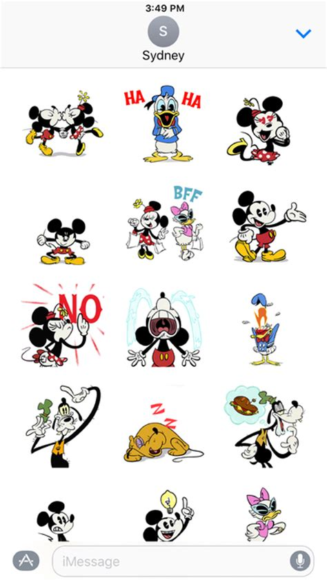 Nail Sticker Mickey disney stickers mickey friends on the app store